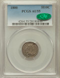Early Half Dimes: , 1800 H10C AU55 PCGS. CAC. PCGS Population (25/52). NGC Census:(13/53). Mintage: 40,000. Numismedia Wsl. Price for problem ...