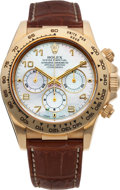 Timepieces:Wristwatch, No Shipping into the U.S. - Rolex Ref. 16518 Gold Oyster Perpetual Cosmograph Daytona, circa 1999. ...