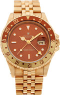 Timepieces:Wristwatch, No Shipping into the U.S. - Rolex Ref. 16718 Gold GMT Master II,circa 1991. ...