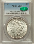 Morgan Dollars, 1901 $1 AU58 PCGS. CAC....