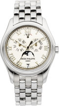 Timepieces:Wristwatch, Patek Philippe Ref. 5036/1 Very Fine White Gold Annual Calendar....