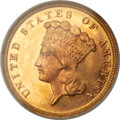 Three Dollar Gold Pieces, 1882 $3 MS65 NGC....