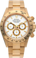 Timepieces:Wristwatch, No Shipping into the U.S. - Rolex Ref. 16528 Gold Oyster Perpetual Cosmograph Daytona, circa 1999. ...