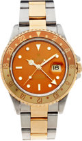 Timepieces:Wristwatch, No Shipping into the U.S. - Rolex Ref. 11640 GMT Master Steel &Gold Wristwatch, circa 1993. ...