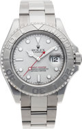 Timepieces:Wristwatch, No Shipping into the U.S. - Rolex Ref. 16622 Gent's Steel Yacht-Master Wristwatch, circa 1999. ...