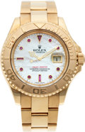 Timepieces:Wristwatch, No Shipping into the U.S. - Rolex Ref. Gent's Gold GMTYacht-Master, circa 1999. ...