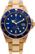 Timepieces:Wristwatch, No Shipping into the U.S. - Rolex Ref. 16618 Gold Submariner Wristwatch, circa 1999. ...