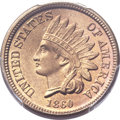 Indian Cents, 1860 1C MS66+ PCGS. CAC....
