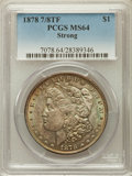Morgan Dollars: , 1878 7/8TF $1 Strong MS64 PCGS. PCGS Population (1464/244). NGCCensus: (1003/97). Mintage: 544,000. Numismedia Wsl. Price ...