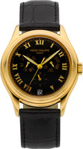 Timepieces:Wristwatch, Patek Philippe & Co. Ref. 5035J Very Fine Yellow Gold AnnualCalendar. ...