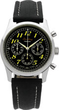 Timepieces:Wristwatch, Breitling Ref. A40035 Stainless Steel Navitimer Premier Chronograph . ...