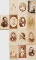 Photography:CDVs, [Victorian Photography]. Thirteen Cartes de Visite of Victorian Men, Women, and Children. All measure about 4 x ...