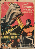 "Movie Posters:Adventure, Avenging Shadow vs. the Black Hand (Ars Una, 1956). Mexican OneSheet (27"" X 37""). Adventure.. ..."