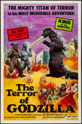 "Movie Posters:Science Fiction, The Terror of Godzilla (Bob Conn Enterprises, 1977). One Sheet (27""X 41""). Science Fiction.. ..."