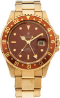 Timepieces:Wristwatch, No Shipping into the U.S. - Rolex Ref. 16710 Gold GMT Master II, circa 1990. ...