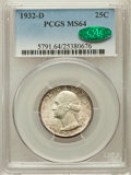 Washington Quarters, 1932-D 25C MS64 PCGS. CAC....