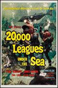 "Movie Posters:Science Fiction, 20,000 Leagues Under the Sea (Buena Vista, R-1963). One Sheet (27""X 41"") Style A. Science Fiction.. ..."
