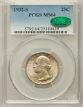 Washington Quarters, 1932-S 25C MS64 PCGS. CAC....