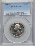 Washington Quarters, 1992-D 25C MS67 PCGS....
