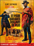 "Movie Posters:Western, For a Few Dollars More (United Artists, R-1978). French Grande (46"" X 62""). Western.. ..."