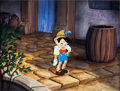 Animation Art:Color Model, Pinocchio Color Model Cel Presentation Set-Up (Walt Disney,1940)....