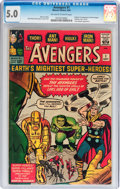 Silver Age (1956-1969):Superhero, The Avengers #1 (Marvel, 1963) CGC VG/FN 5.0 Off-white to whitepages....