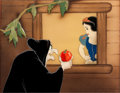 Animation Art:Production Cel, Snow White and the Seven Dwarfs Old Hag Production CelSet-Up (Walt Disney, 1937)....