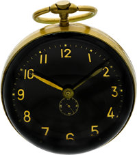 Swiss Large Five Inch Diameter Glass Ball Clock