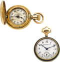Timepieces:Pocket (post 1900), Two Miniature Watches, Nardin For Caldwell & Longines For Tiffany. ... (Total: 2 Items)