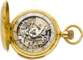 Timepieces:Pocket (post 1900), Swiss Recased Minute Repeater For Repair. ...