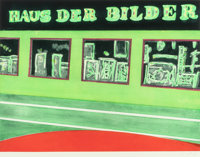 PETER DOIG (Scottish, b. 1959) Haus der Bilder, 2001 Aquatint in colors 26-1/4 x 34-3/8 inches (6