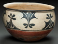 American Indian Art:Pottery, A LARGE SANTO DOMINGO DOUGH BOWL. c. 1900 ...