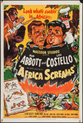 """Movie Posters:Comedy, Africa Screams (United Artists, 1949). One Sheet (27"""" X 41"""").Comedy.. ..."""