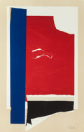 Fine Art - Work on Paper:Print, ROBERT MOTHERWELL (American, 1915-1991). On the Wing, 1984.Lithograph in colors with embossing and collage. 46-3/4 x 30...
