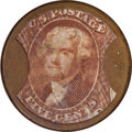 Encased Postage: , HB-33 EP-63 Scott-16 Reed-AS05MD 5¢ Ayer's Sarsaparilla MediumAyer's About New.. Numerical grade: 85case.65stamp.65mica. = 21...