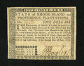 Colonial Notes:Rhode Island, Rhode Island July 2, 1780 $5 About New....