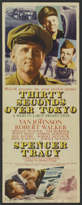 "Movie Posters:War, Thirty Seconds Over Tokyo (MGM, 1944). Insert (14"" X 36""). War...."