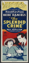 "Movie Posters:Crime, The Splendid Crime (Paramount, 1925). Pre-War Australian Daybill(15"" X 40""). Crime. ..."