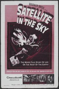 "Satellite In The Sky (Warner Brothers, 1956). One Sheet (27"" X 41""). Science Fiction"