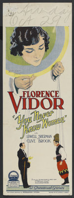 "You Never Know Women (Paramount, 1926). Pre-War Australian Daybill (14.5"" X 40""). Drama"