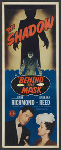 "Movie Posters:Crime, Behind the Mask (Monogram, 1946). Insert (14"" X 36""). Crime. ..."