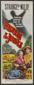 "Movie Posters:Adventure, Phantom of the Jungle (Lippert, 1955). Insert (14"" X 36"").Adventure. ..."