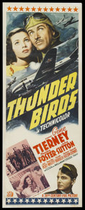 "Movie Posters:War, Thunder Birds (20th Century Fox, 1942). Insert (14"" X 36""). War...."