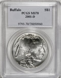 Modern Issues, 2001-D $1 Buffalo Silver Dollar MS70 PCGS....