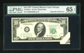 Error Notes:Attached Tabs, Fr. 2023-G $10 1977 Federal Reserve Note. PMG Gem Uncirculated 65EPQ.. ...