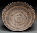American Indian Art:Baskets, AN APACHE COILED TRAY. c. 1890...