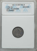 Early Half Dimes, 1795 H10C V-3, LM-4, R.6 -- Cleaned, Plugged -- ANACS. VG10Details. NGC Census: (1/342). PCGS Population (25/490). Mintage...