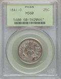 Seated Quarters: , 1841-O 25C MS60 PCGS. PCGS Population (3/40). NGC Census: (1/32).Mintage: 452,000. Numismedia Wsl. Price for problem free ...
