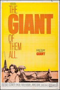 "Giant (Warner Brothers, R-1970). Poster (40"" X 60""). Drama"