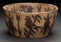 American Indian Art:Baskets, A PANAMINT PICTORIAL POLYCHROME COILED BOWL. c. 1920. ...